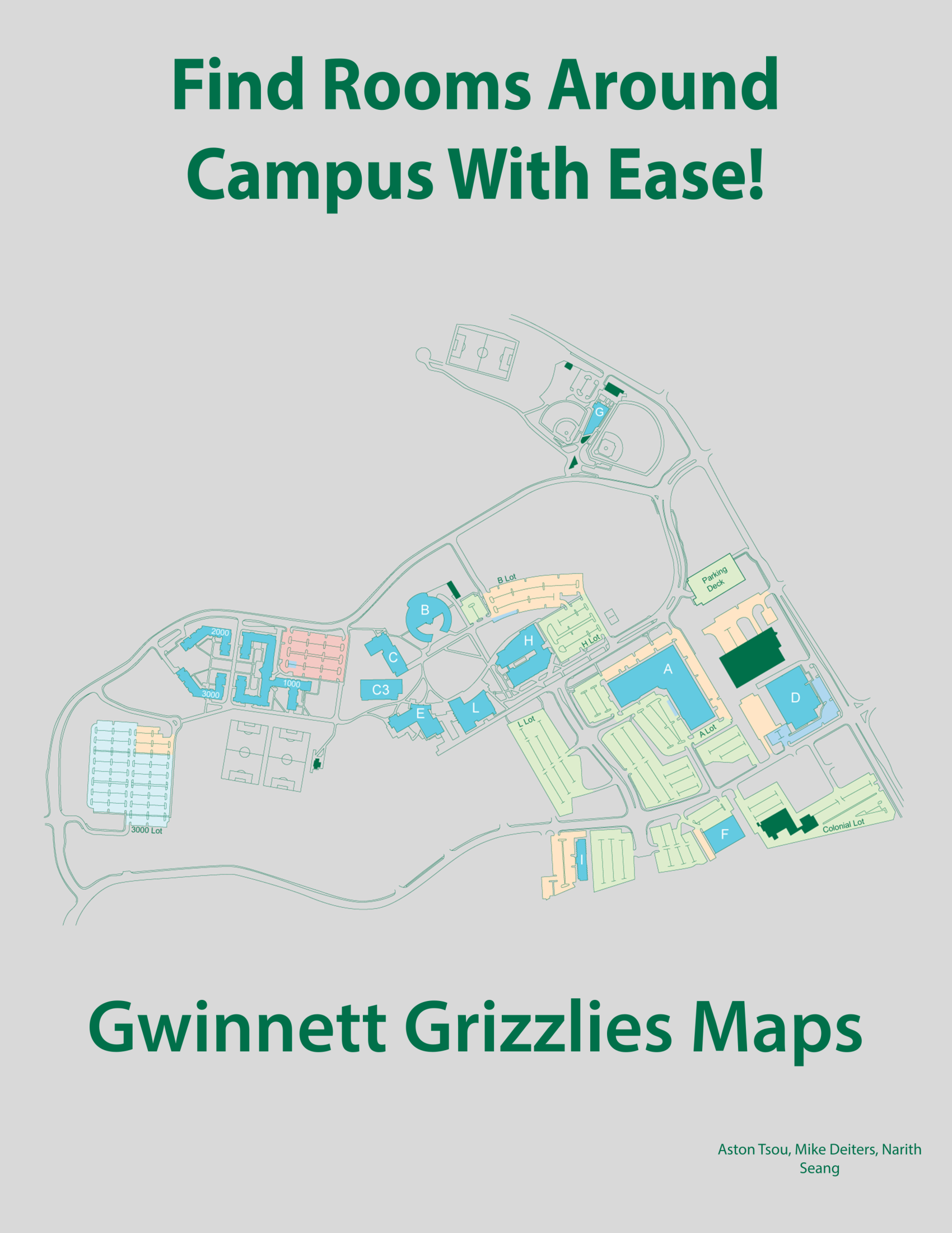Map Of Georgia Gwinnett College.Ggc Maps An Interactive Campus Map Persistent Web Application